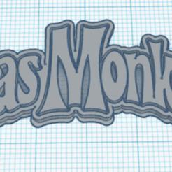 gasmonkey.png Download STL file GasMonkey logo keychain - GasMonkey logo keychain • 3D printer template, marcelosaldivia