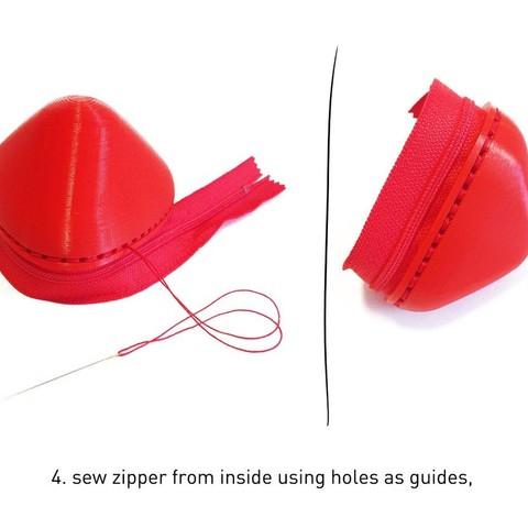 blob_3_display_large.jpg Download free STL file Blob - zipper pouch • 3D printable template, Yazhgar