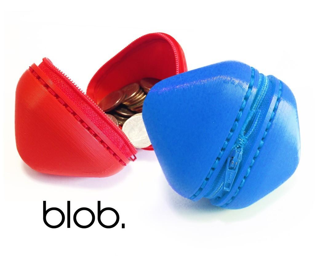 blob_1_display_large.jpg Download free STL file Blob - zipper pouch • 3D printable template, Yazhgar
