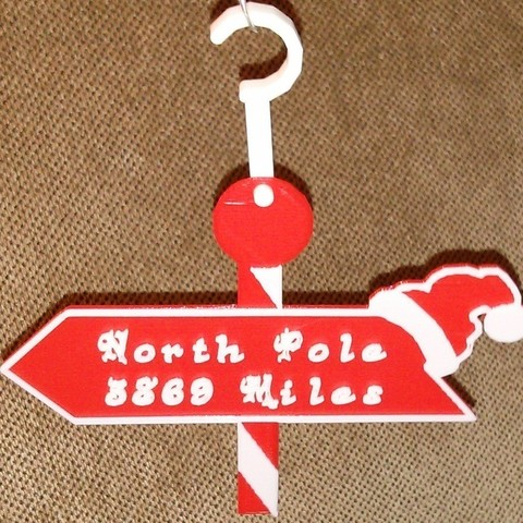 Download free 3D printing files Distance to North Pole Sign, Yazhgar