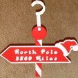 Better_North_Pole_Sign_Image_display_large.jpg Télécharger fichier STL gratuit Distance jusqu'au panneau du pôle Nord • Objet pour impression 3D, Yazhgar