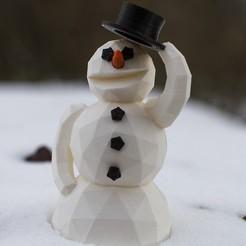 Télécharger STL gratuit Bonhomme de neige, Raeunn3D