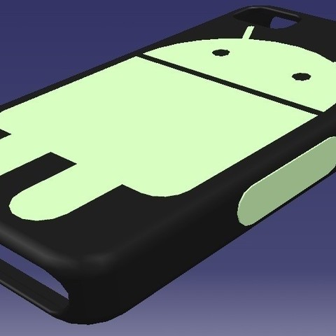 Android_Themed_iPhone_Case_2_display_large_display_large.jpg Download free STL file EvD Android Themed iPhone Case • 3D printable object, Raeunn3D