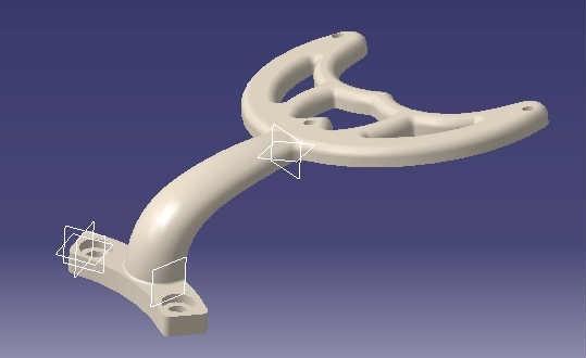 Fan_blade_support_display_large.jpg Download free STL file Ceiling Fan Blade Bracket • Model to 3D print, Raeunn3D