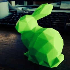 Download free 3D printer designs Low Poly Stanford Bunny, Istareyn