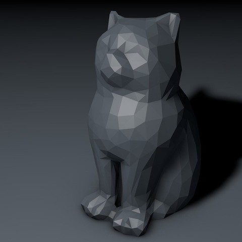 Download free 3D printing files Low Poly Marketbot Laser Cat, Istareyn