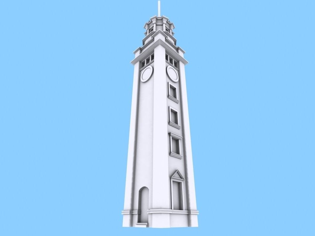 ClockTower_06_display_large.jpg Download free STL file Hong Kong Tsim Sha Tsui Clock Tower • 3D printer design, Istareyn