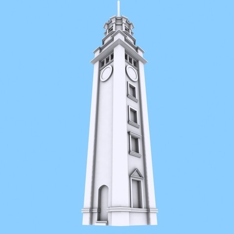 Free 3D print files Hong Kong Tsim Sha Tsui Clock Tower, Istareyn