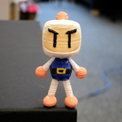 Download free STL files Bomberman Figure, Istareyn