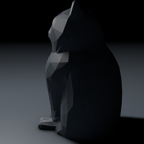 Screen_Shot_2013-09-15_at_12.10.24_AM_display_large.jpg Download free STL file Low Poly Marketbot Laser Cat • Template to 3D print, Istareyn