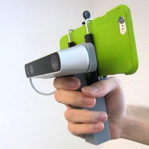 Télécharger fichier imprimante 3D gratuit iPhone 5,6 Structure Capteur Grip, Istareyn