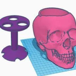 Porta Cepillos.JPG Download free STL file TOOTHBRUSH HOLDER SKULL X3 • 3D printing model, miguel_ksknt_93