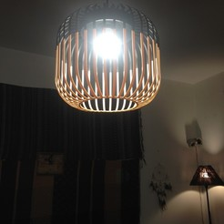 Télécharger fichier STL Wood lamp shade , jokerremy