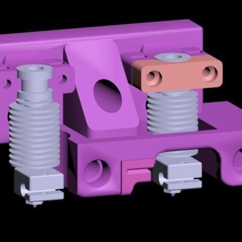 Télécharger plan imprimante 3D gatuit Da Vinci 1.0 à Dual Bowden E3D V6 E3D double, Urukgar4D