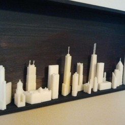 Download free 3D printer templates Chicago Skyline, Urukgar4D