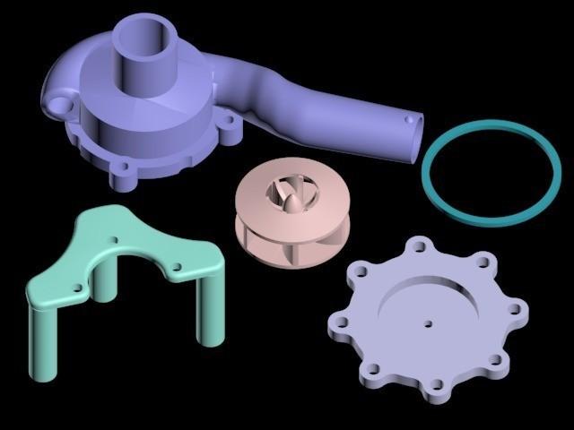 1_display_large.jpg Télécharger fichier STL gratuit Pompe à eau centrifuge - 15% plus grande • Plan pour impression 3D, Urukgar4D