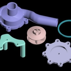 Download free 3D printer templates Centrifugal water pump - 15% bigger, Urukgar4D