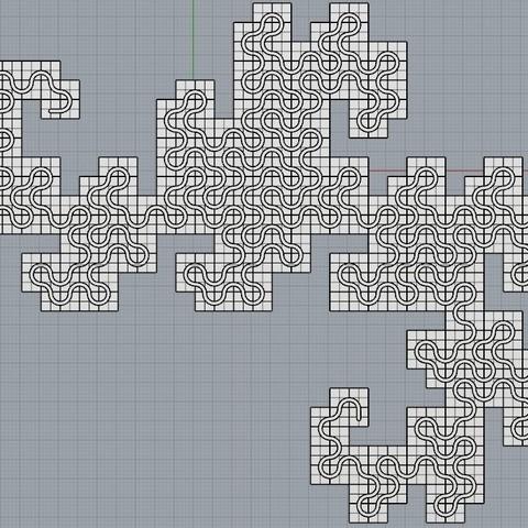 157ec659e8058b55157dc66b7fb643cc_display_large.jpg Télécharger fichier STL gratuit Mosaïque Dragon Curve • Objet pour imprimante 3D, Bolrod
