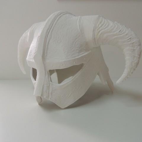 Free 3D printer designs Dovahkiin Helmet Full Size Remix, Bolrod
