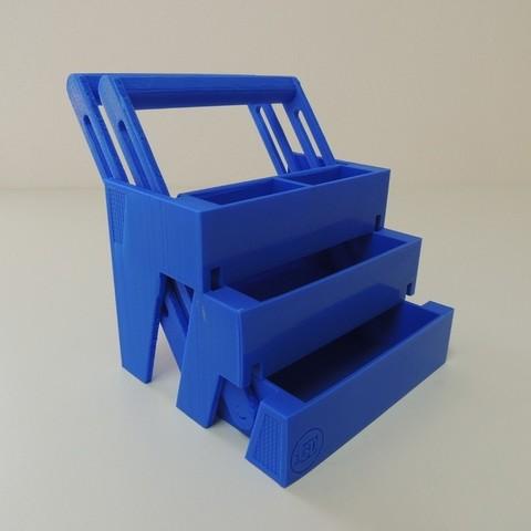 Free 3D printer designs Sliding Storage Drawers, Bolrod