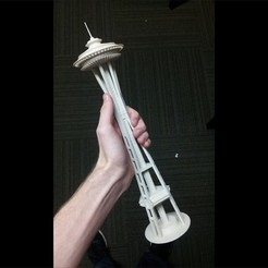 Free STL files Seattle Space Needle, Bolrod