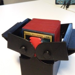 Download free 3D printing designs Improved Deck Box with Gears for Magic the Gathering EDH Commander, Bolrod