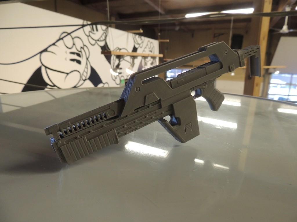 DSCN9894_display_large.jpg Download free STL file M41A Pulse Rifle • 3D printer design, Bolrod