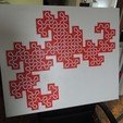 Download free 3D printing templates Dragon Curve Mosaic, Bolrod