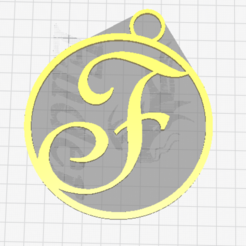 Download free 3D printing files Letter F, dimibroux