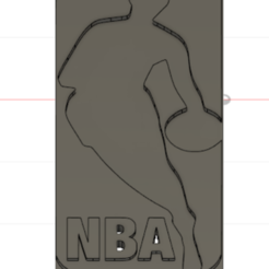 Free 3D printer model NBA logo, dimibroux