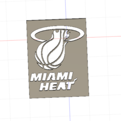 Free 3D printer designs Miami Heat, dimibroux