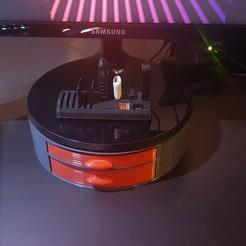 Descargar diseños 3D gratis soporte de pantalla con dos cajones, az0t32000