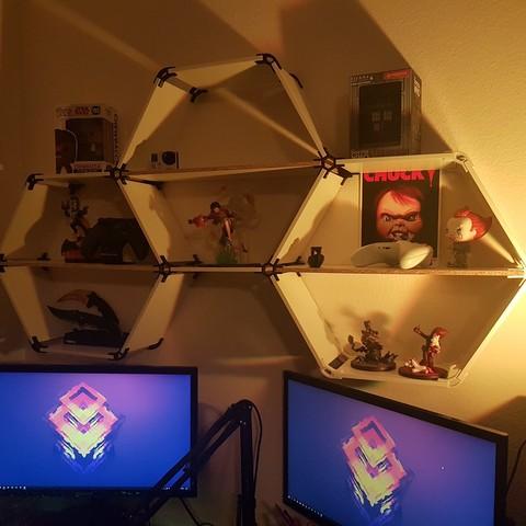 Fichier imprimante 3D gratuit hexagonal shelf, az0t32000