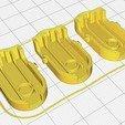 ImpressionClipDysonV6.jpg Download STL file Triple holder for Dyson V6 accessories • 3D printer design, uhgues