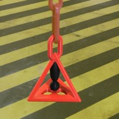 3DWarningSign.jpg Download STL file Warning signal 3D danger suspended by a plastic signal chain • 3D printable design, uhgues