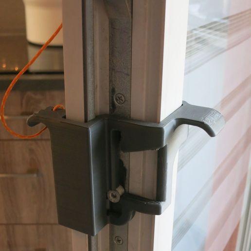 LockindHandle1.jpg Download free STL file Inside / outside lock handle for GU window door • 3D print model, uhgues
