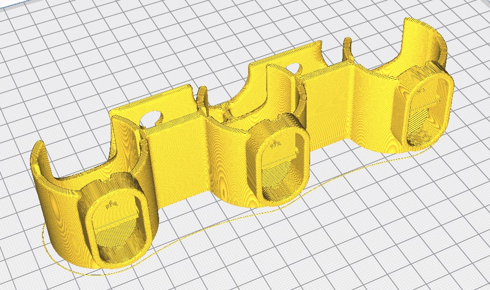 ImpressionSupportTriple.jpg Download STL file Triple holder for Dyson V6 accessories • 3D printer design, uhgues