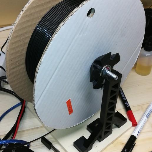 Télécharger fichier SCAD gratuit Support de bobine de filament • Objet imprimable en 3D, gobo38