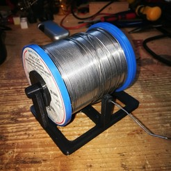 Download free 3D printer designs Solder spool holder for 1kg spool, gobo38