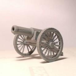 Free STL Napoleonic Cannon keychain, 3Dextrusion