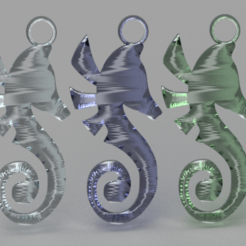 seahorse v2.png Download free STL file Seahorse earrings • 3D printing object, IdeaLab