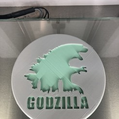 IMG_4498.jpg Download free STL file Drinkcoaster Godzilla • 3D printer template, IdeaLab