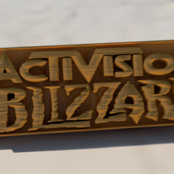 blizzard.png Download free STL file Activision Blizzard keychain • 3D printer template, IdeaLab