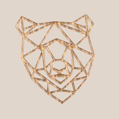 bear geometric.png Télécharger fichier STL gratuit Ours géométrique • Objet imprimable en 3D, IdeaLab