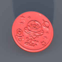 spaceship.png Download free STL file Spaceship drinkcoaster • Design to 3D print, IdeaLab