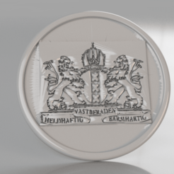 Free STL files Coat of arms of Amsterdam coaster, IdeaLab