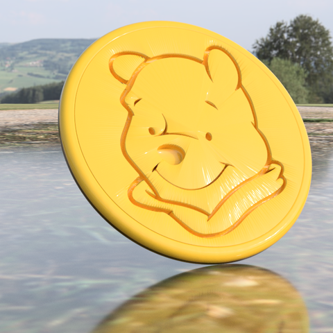 poeh 2.png Download free STL file Winnie the pooh drinkcoaster (pair) • 3D printable model, IdeaLab