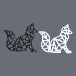 fox.png Download free STL file Fox earrings (geometric) • Model to 3D print, IdeaLab