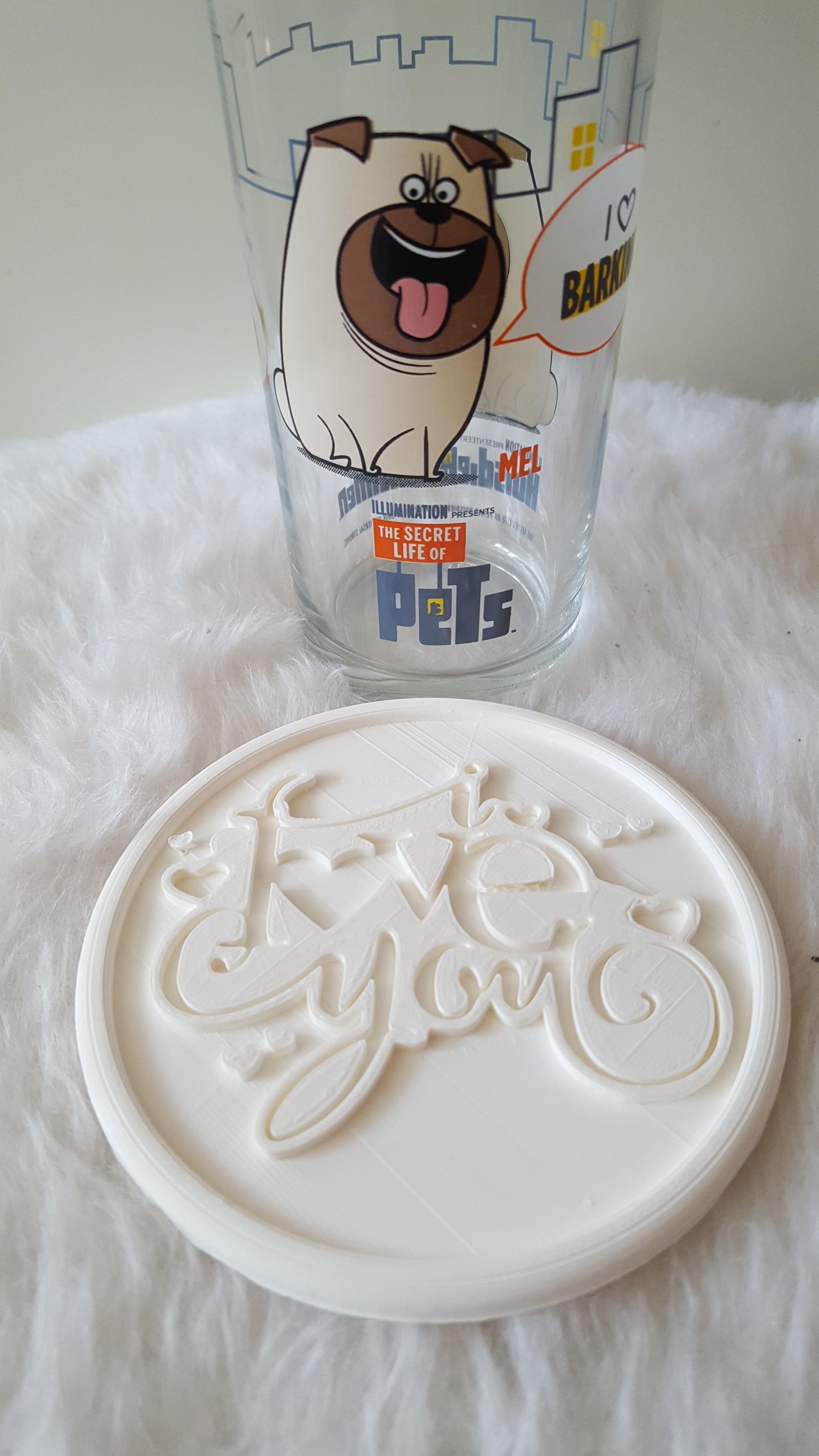 20190324_134045.jpg Download free STL file I love you drinkcoaster • 3D print design, IdeaLab