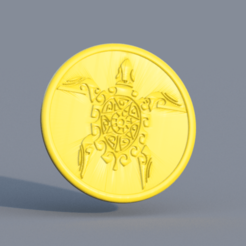 turtle.png Download free STL file Tribal turtle drinkcoaster • 3D printer template, IdeaLab